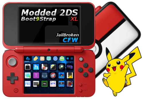 Buy Modded n2DS XL Poke Ball Edition - PokEdit